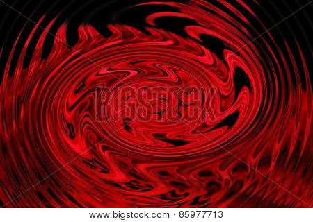 Swirling Red abstract background. Red and black swirl.