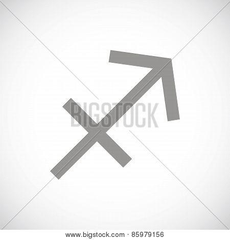Sagittarius black icon