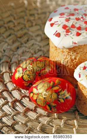Easter Sweet Baked And Color Eggs