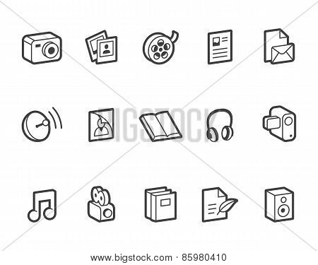 Media And Publishing Icons