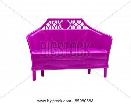 Toy Doll Sofa Isolated On White