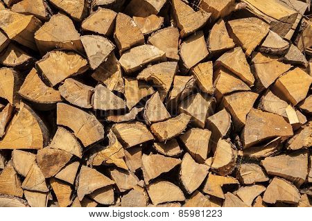 Wood for fireplaces.