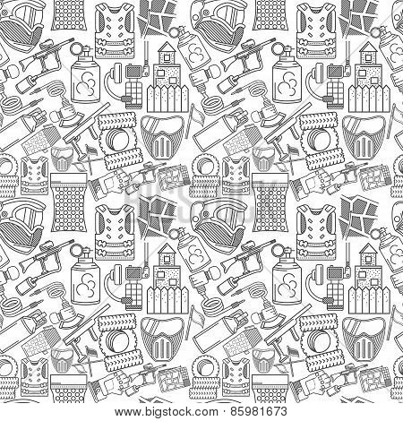 Monochrome vector background for paintball