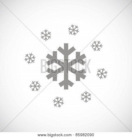 Snow black icon
