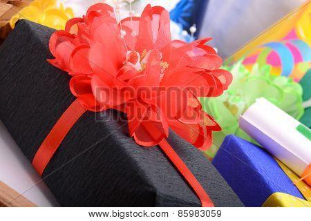 Set Of Gift Box Isolated