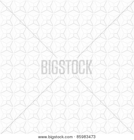 Gray pattern from different geometric shapes, square, triangle, hexagon can be used as fabric textur