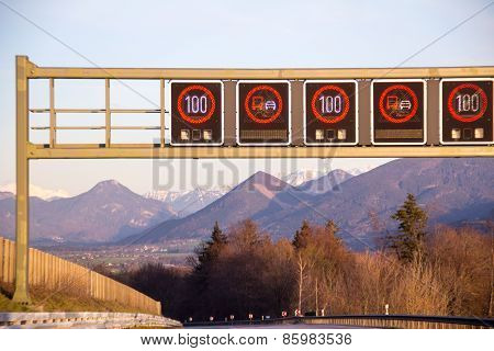 Highway signs in Germany