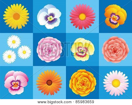 Flowers Background Pattern