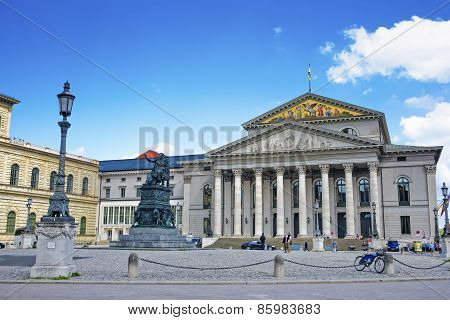 Munich, National Theater At The Max Joseph Square