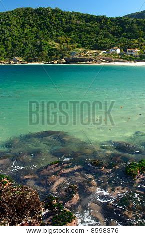 Crystalline sea beach in Niteroi Rio de Janeiro Brazil