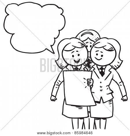 Businesswomen consulting