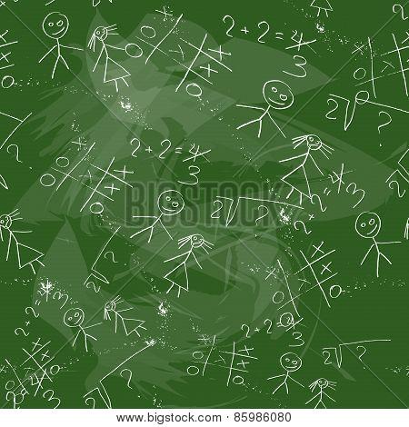Seamless Pattern Of School Board