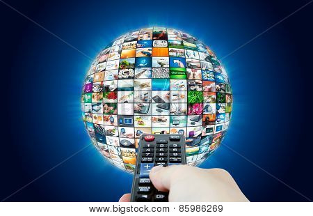 Television Broadcast Multimedia Sphere Abstract Composition