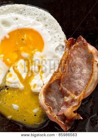 Traditional American Bacon And Egg Breakfast