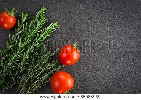 Fresh Tomatoes Herbs
