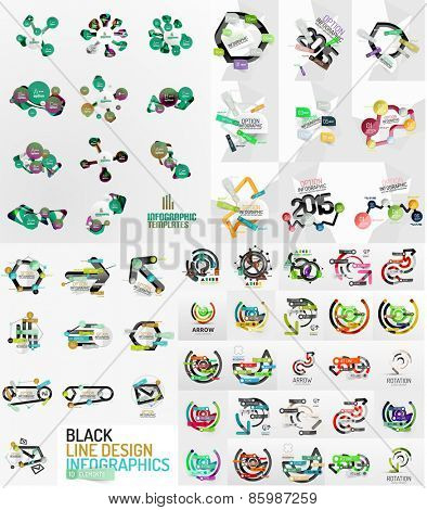 Large mega set of infographic templates