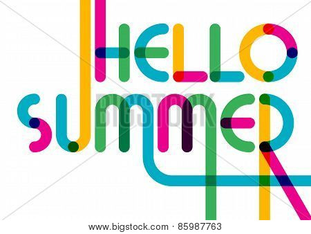 Abstract Summer Typographic Background. Colorful Greeting Card. Creative Flat Design