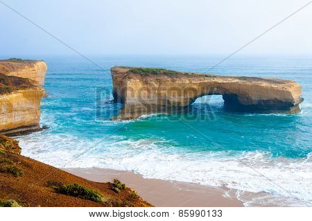 London Bridge At The Twelve Apostles In Victoria, Australia