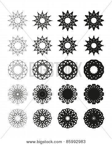 Round vector emblems