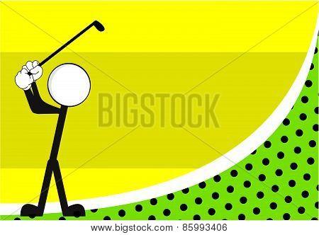 golf pictogram background