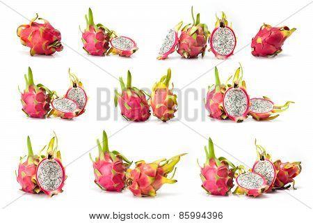 composite of dragon fruit