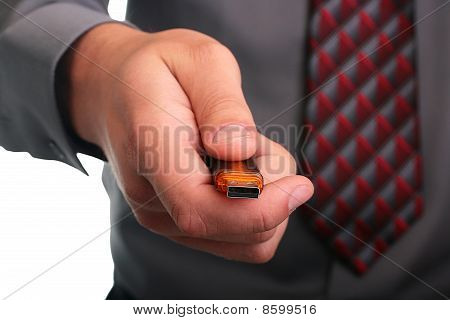 Hand With Memory Stick
