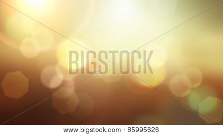 Abstract summer background with bokeh lights design
