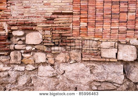 Layers Of An Old Wall