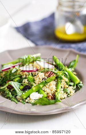 Quinoa With Asparagus And Feta Salad