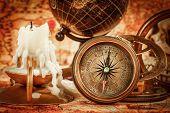 image of spyglass  - Vintage compass - JPG