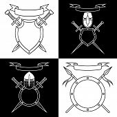 picture of knights  - Knightly emblems - JPG