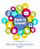 stock photo of protractor  - Back to school vector illustration - JPG