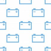 pic of accumulative  - Accumulator white and blue seamless pattern for web design - JPG