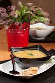 stock photo of buckwheat  - Soup with buckwheat vegetables and chicken stomachs - JPG