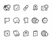 stock photo of outline  - Outlined internet and website vector icons - JPG