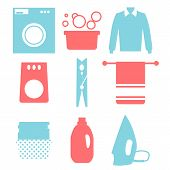 stock photo of dirty-laundry  - Laundry and Washing Icons - JPG