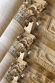 foto of bordeaux  - Heads andcolumns of the porch of Bordeaux Opera France