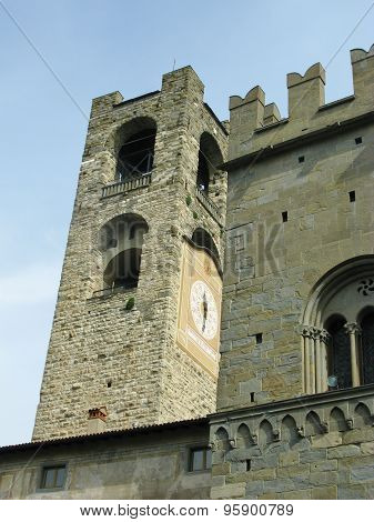 The campanile of Bergamo in Bergamo