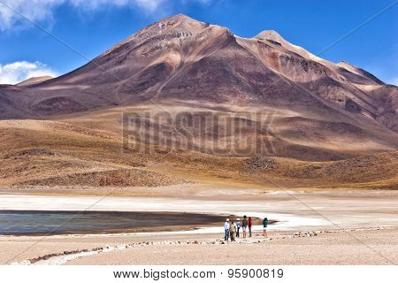 Lake in Atacama desert in Chile