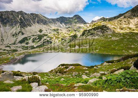 Mountain lake Bucura in Retezat National Park, Transylvania, Romania, Europe