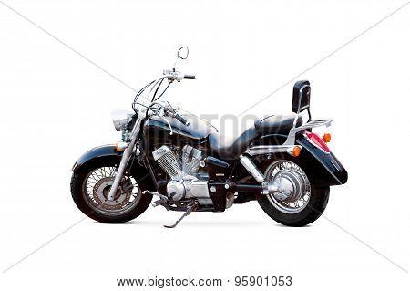 Black Motorbike Isolated On White Background