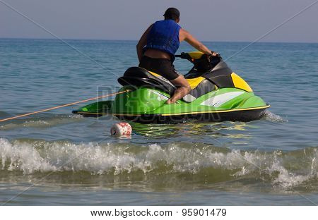 Young Man on Jet Ski,