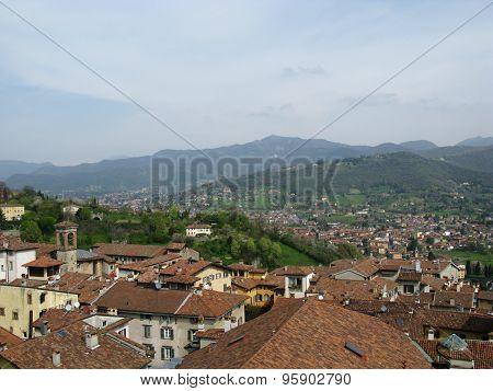 Panoramic view of Bergamo in Italy