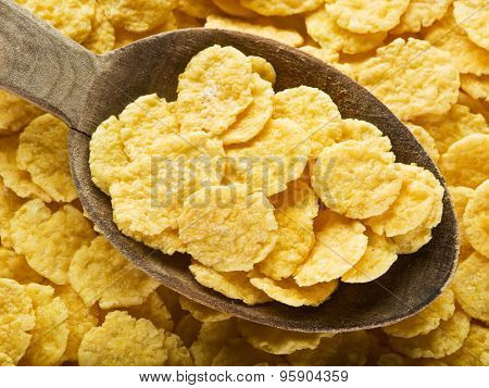 Cornflakes. Food background.