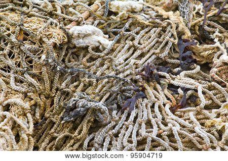 Old Rope Fishing Net Trawl