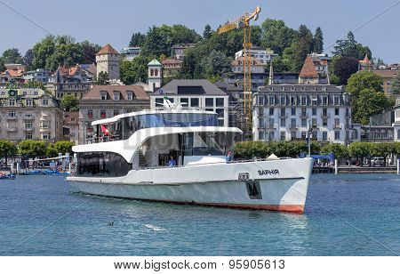 Saphir Ship On The Lake Lucerne