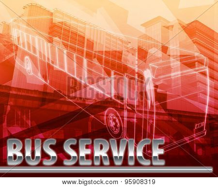 Abstract background digital collage concept illustration bus service public transport