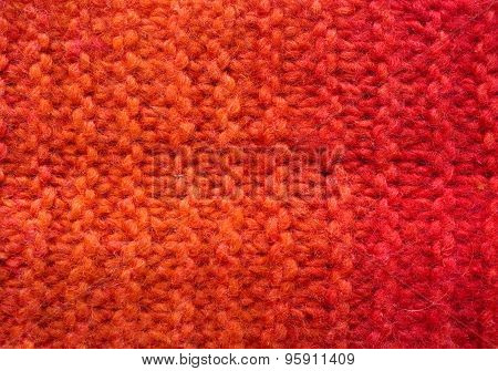 Red Wool Surface -  Close Up Of Textured Background
