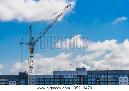 Tower Crane And Building Site