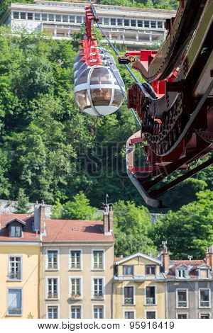 Mechanism Of Funicular In Grenoble, France